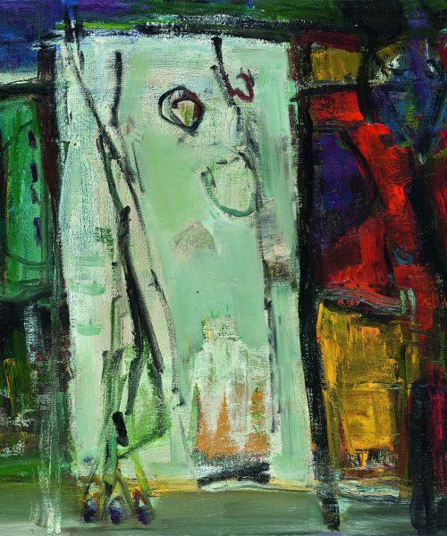 Baltas gamtoje/70×80/aliejus, drobė/1993