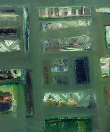 Senosios architektūros fragmentas/81×100/aliejus, drobė/1991
