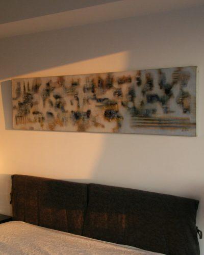 Be pavadinimo/50x200/akrilas, aliejus, drobė/2005 (privati kolekcija)