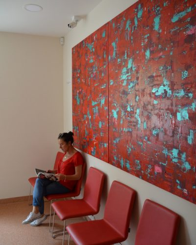 """Atradimai /150x240/drobė, akrilas/2015(Odontologijos klinika """"Žavi šypsena"""", Klaipėda)"""