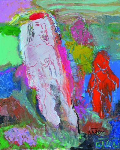 Prie vandens/50x40/akrilas, drobė/2012