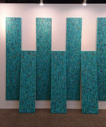 Old New Stories/acrylic on canvas/3 – 200x40; 2 - 160x40/2018