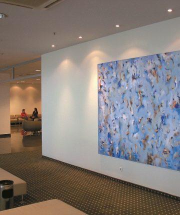 "Fragments/195x250/oil, acrylic on canvas/2001 (""Radisson Blu Hotel"" Lithuania)"
