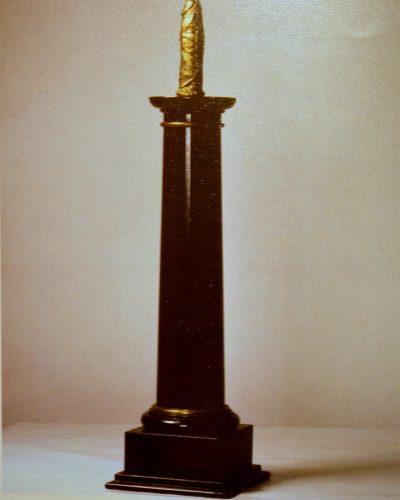 OBELISK    90 CM   MARBLE  GOLD  2008
