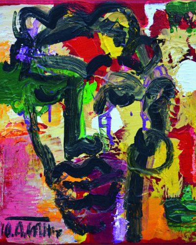 Portretas/25x25/drobė, aliejus/2010