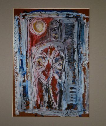 Moterys I/21x29/popierius, pastelė/2009