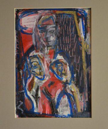Moterys II/21x29/popierius, pastelė/2009